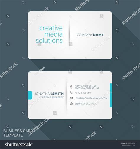 Flat Design Business Card Template by Modern Creative Business Card Template Flat Design Vector