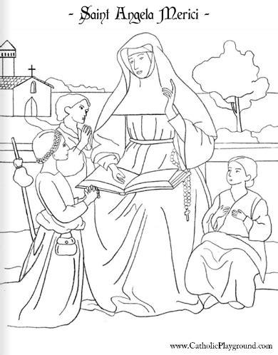 St Of Lima Coloring Page st angela merici coloring page january 27th catholic playground