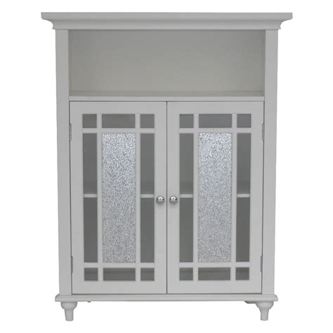 Floor Cabinet With Doors Home White Bathroom Door Floor Cabinet Floor Cabinets Racks At Hayneedle