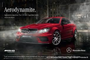 Mercedes Adverts Aerodynamite Werbung Mercedes Amg Offenbar Schneller Als Bmw