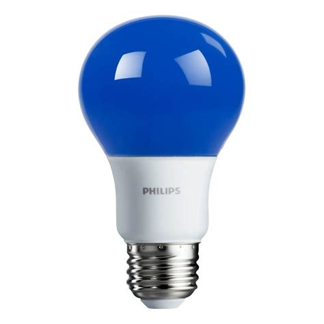 Lu Led Philips 19 Watt philips 60 watt equivalent blue a19 non dimmable autism speaks led light bulb 463166 the home