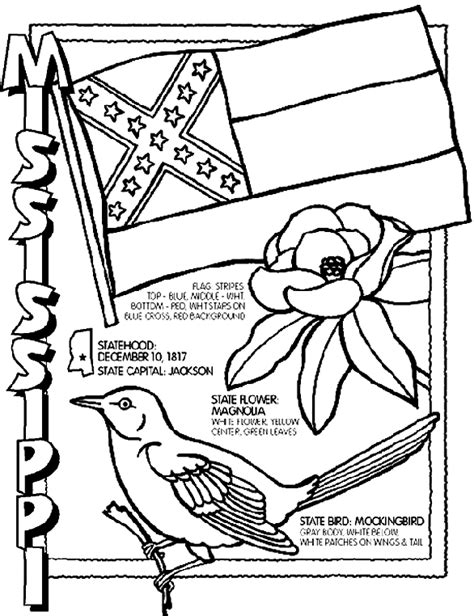 50 states coloring pages crayola mississippi state bird coloring page book covers