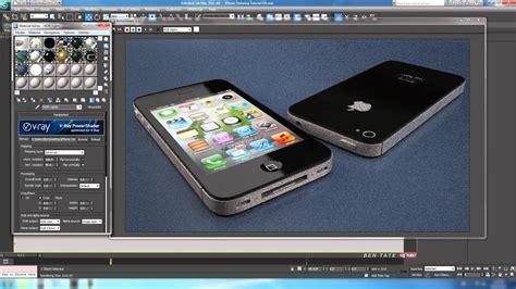 tutorial iphone 4s in 3d studio max part 5 3 texturing and rendering