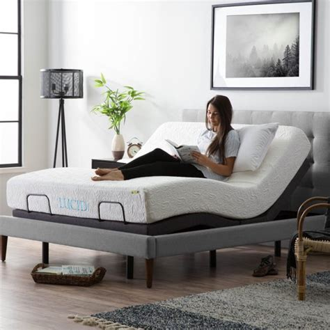 lucid l300 adjustable bed base walmart
