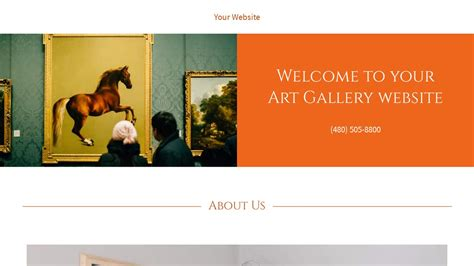 Exle 3 Art Gallery Website Template Godaddy Godaddy Template Gallery