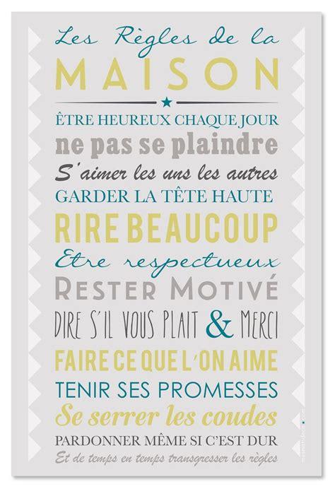 Affiche Les Regles De La Maison 2923 by 1000 Id 233 Es 224 Propos De R 232 Gles 192 La Maison Sur