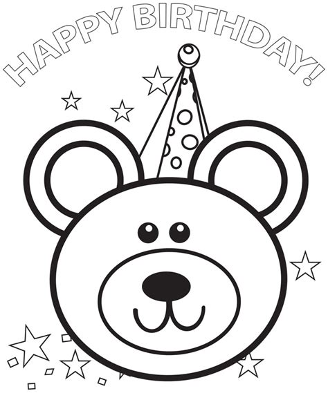 Free Coloring Pages Of Birthday Happy Coloring Page