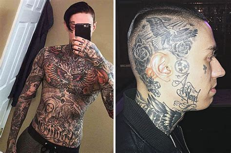 miley cyrus s brother shows off fully tattooed body