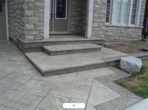 Concrete Patio With Steps by Pro Concrete Oakville Concrete Mississauga Concrete