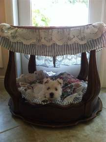 Pet Canopy Bed Canopy Bed Made From An End Table Beds Tables Bulldogs And Bulldogs