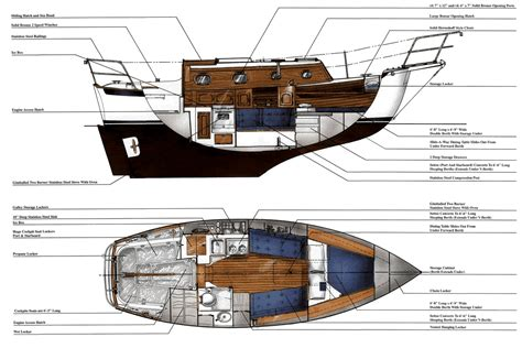 small yacht layout the dana 24 sailboat bluewaterboats org