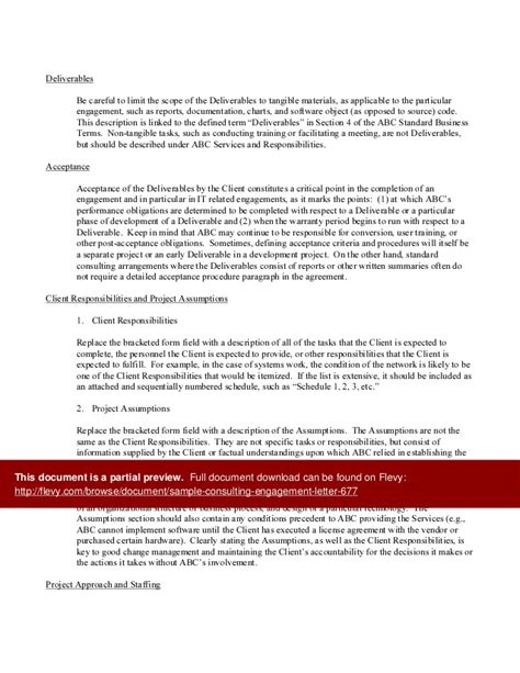 letter of engagement consulting template sle consulting engagement letter