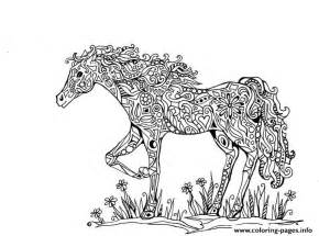 Difficult Animals Horse Printable Hd Coloring Pages Free sketch template