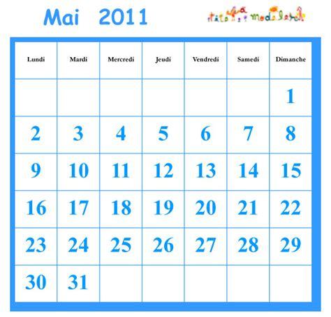 Calendrier Mai 2011 Mai 2011 Grille Du Calendrier A Cocher T 234 Te 224 Modeler
