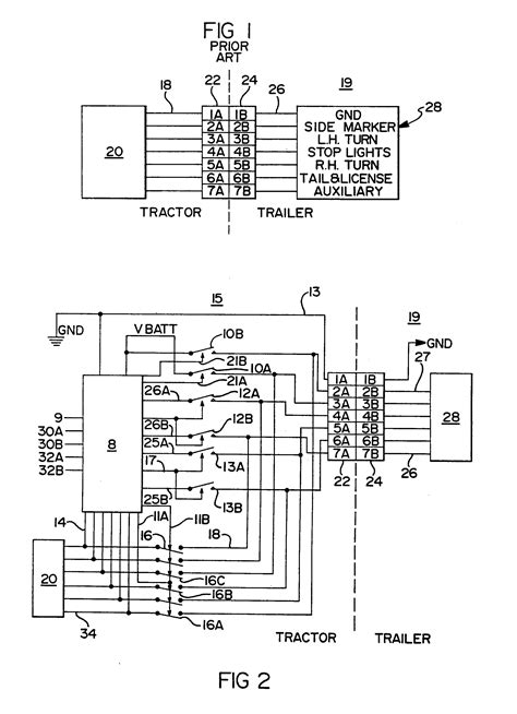 patent epa truck tractor  trailer electrical communication system google patents