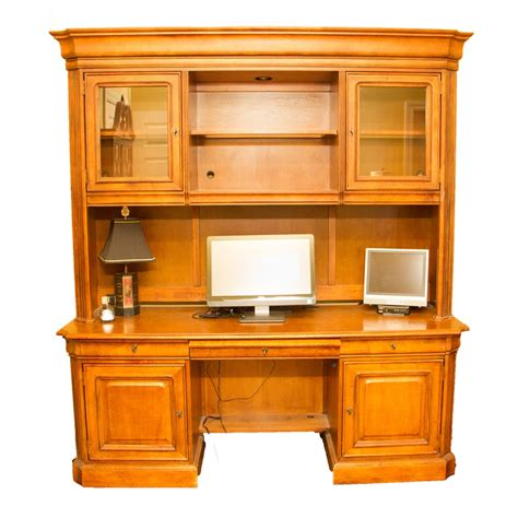 Stanley Computer Desk Computer Desk And Hutch By Stanley Furniture Ebth