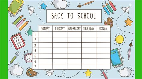 school template back to school school timetable templates part 1 active