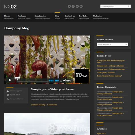 Theme Wordpress Blog Themeforest | nx02 wordpress theme by themeforest wphub