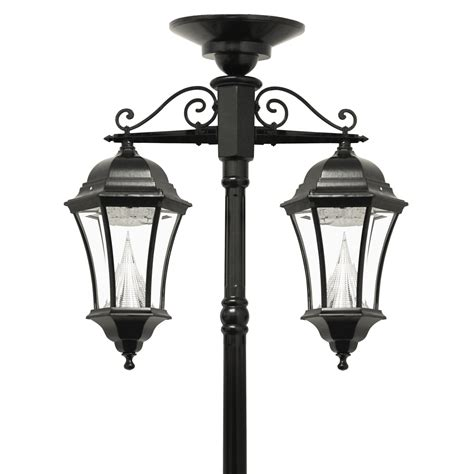 Victorian Solar L Series Double Downward Hanging L Solar Powered Light Posts