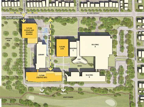 building site plan langara cus facilities facilities master plan