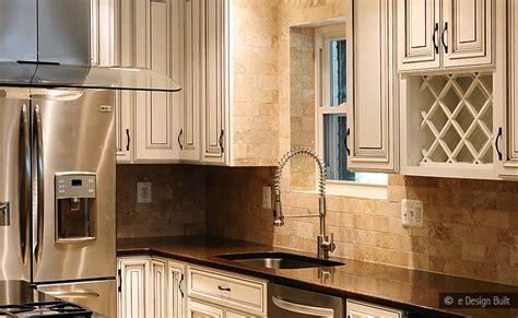 Metal Backsplash Tiles For Kitchens by Travertine Subway Backsplash Brown Countertop Backsplash Com