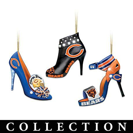 Chicago Bears Ornaments - chicago bears high heel shoe ornament collection