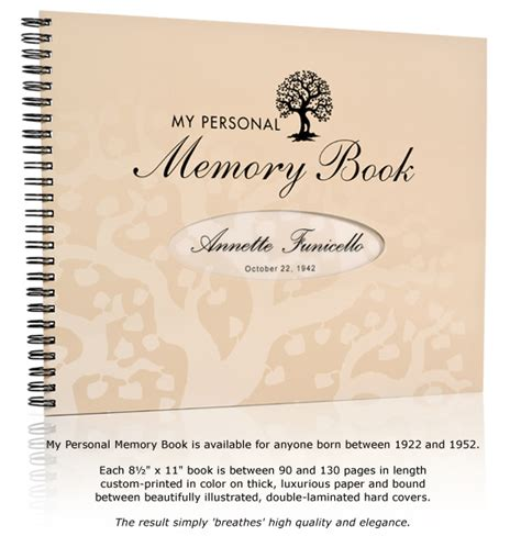 memory book my personal memory book a truly memorable birthday gift