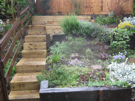 Landscaping Sleepers Xlandscape Area Garden Designs Using Railway Sleepers