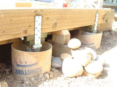 Patio Foundation Depth by Deck Building Deck Building Foundation