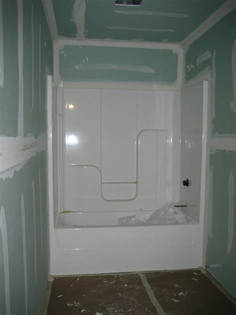 Drywall For Bathroom Shower more basement work and