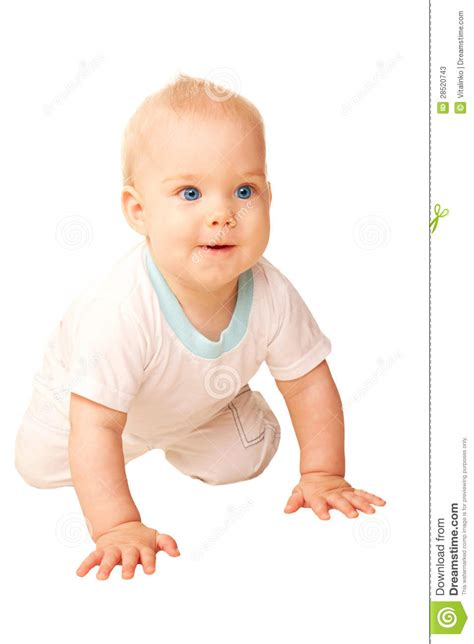 happy baby crawling away stock photos image 28520743