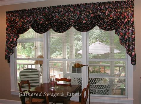 swag valances for living room board mounted valances traditional living room other