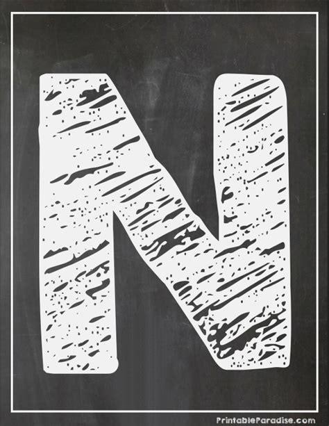 printable chalkboard letters printable letter n chalkboard writing print chalky letter n