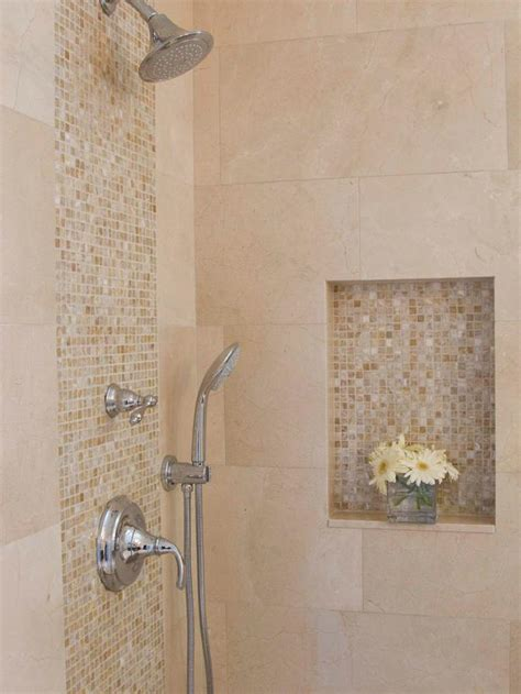 shower tile design neutral marble and onyx tile in bathroom shower