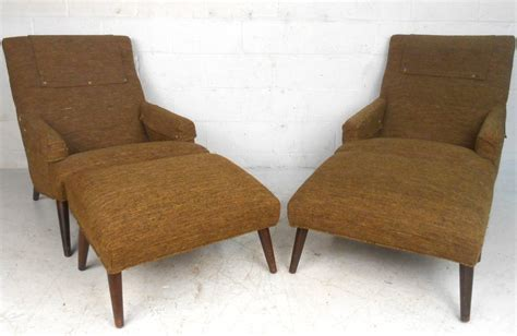 unusual ottomans pair of unique mid century modern lounge chairs with