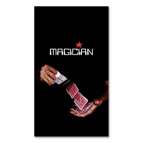 Magician Business Card Template 196 best images about magician business cards on