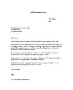 Letter Of Resignation Career Change by Sle Resignation Letter 8 Exles In Pdf Word