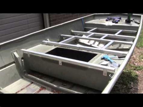 tiny boat nation plans 14 lowe jon boat decking part 3 bracing b youtube