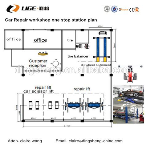 auto workshop layout equipments digital portable wheel alignment machine auto aligner