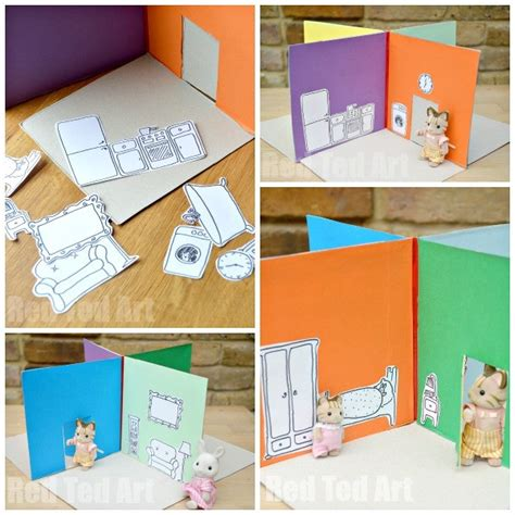 make your own doll house games cereal box to foldable doll s house diy perfect take
