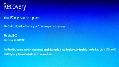 fix quot your pc needs to be repaired quot error using a windows 8 dvd