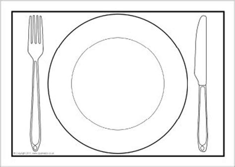 dinner plate coloring page coloring pages