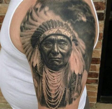 black and grey indian tattoos 26 indian chief tattoos and designs ideas