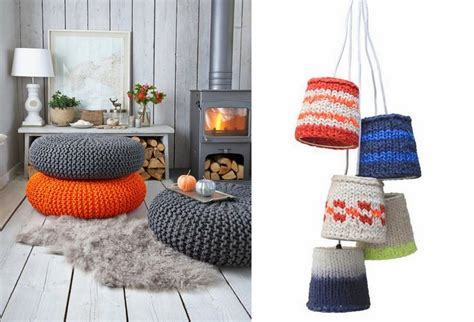 knitted home decor interior design trend design