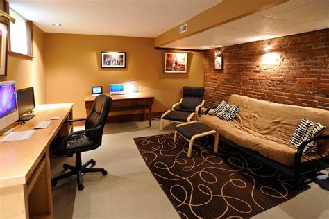 cool basements another cool basement office concept cottage pinterest