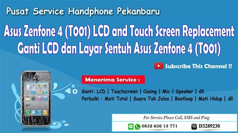 asus zenfone 4 t001 lcd touch screen replacement cara