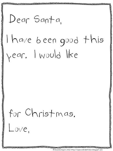 freebielicious simple letter santa