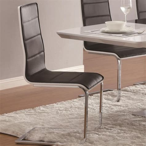 couch leg coasters coaster broderick contemporary dining side chair with
