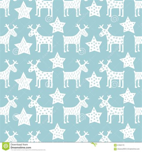 new year pattern vector free seamless retro pattern reindeer and