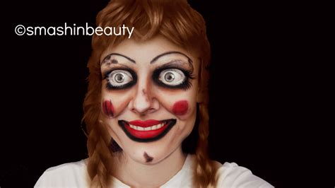 tutorial makeup halloween doll the conjuring annabelle doll makeup halloween makeup